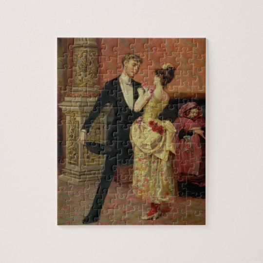 The Foyer of the Lyceum Theatre (oil on canvas) Jigsaw Puzzle