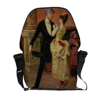 The Foyer of the Lyceum Theatre (oil on canvas) Courier Bag