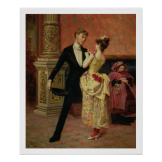 The Foyer of the Lyceum Theatre (oil on canvas) Poster