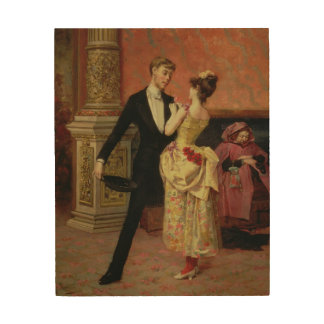 The Foyer of the Lyceum Theatre (oil on canvas) Wood Wall Art
