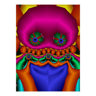 The Fractal Guy, cool cute poster