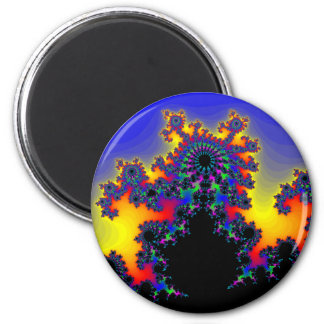 The Fractal's Edge: 2 Inch Round Magnet