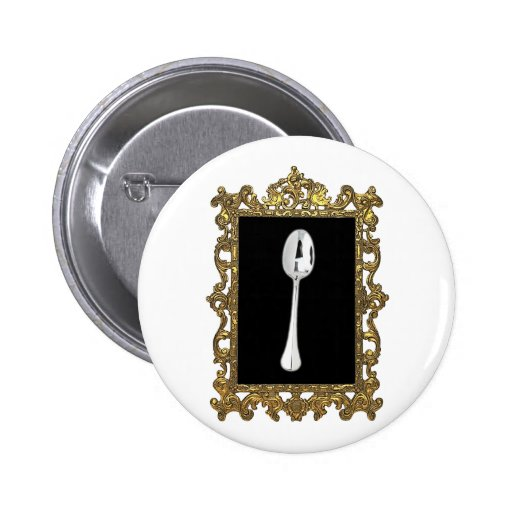 The Framed Spoon 2 Inch Round Button