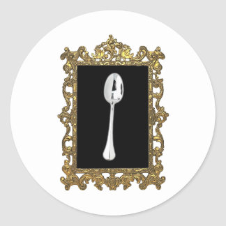 The Framed Spoon Classic Round Sticker