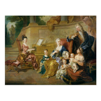 The Franqueville Family, 1711 Postcard