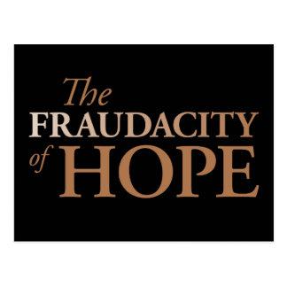 The Fraudacity of Hope Postcard