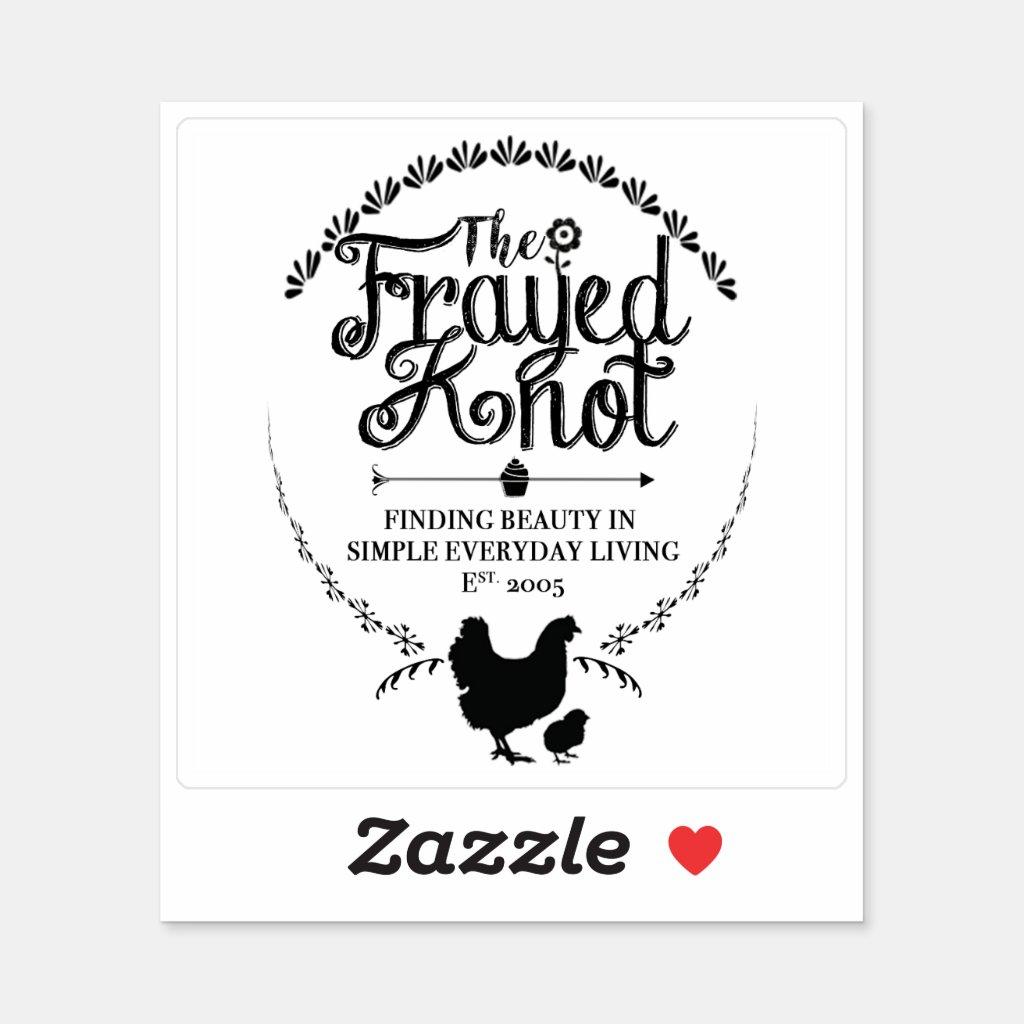 The Frayed Knot - Crest Vinyl Sticker