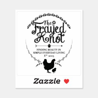 The Frayed Knot - Crest Vinyl Sticker