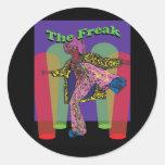 The Freak Round Stickers