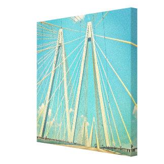 The Fred Hartman Bridge Stretched Canvas Prints