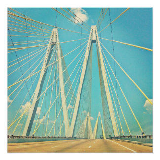 The Fred Hartman Bridge Poster