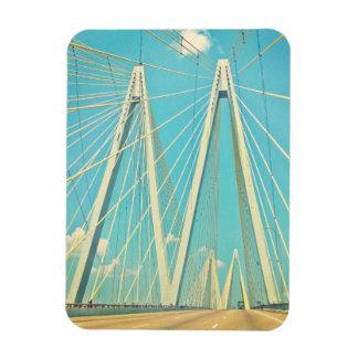 The Fred Hartman Bridge Rectangular Photo Magnet