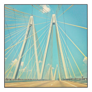 The Fred Hartman Bridge Wood Print