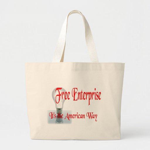 The Free Enterprise Canvas Bags