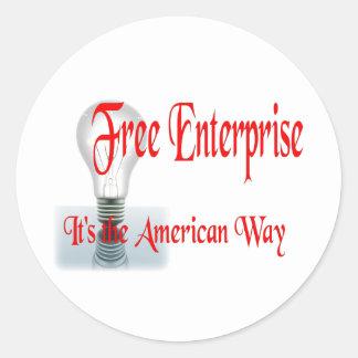 The Free Enterprise Classic Round Sticker