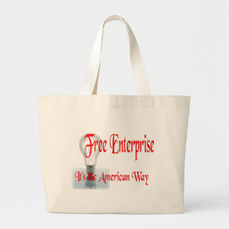The Free Enterprise Large Tote Bag