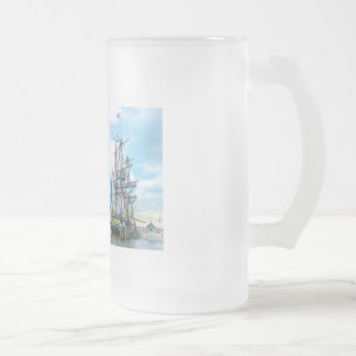 The Freedom Frigate in Old Town Alexandria Frosted Glass Beer Mug