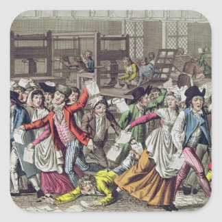 The Freedom of the Press, 1797 Square Sticker