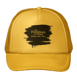 THE FREEDOM TO MARRY HOLLINGSWORTH V. PERRY TRUCKER HAT
