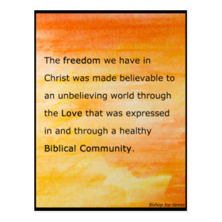 The Freedom We Have In Christ Postcard