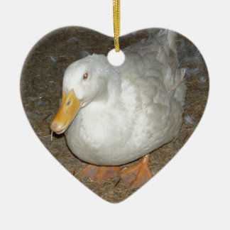 The freindliest duck on earth ceramic ornament