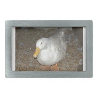 The freindliest duck on earth rectangular belt buckle