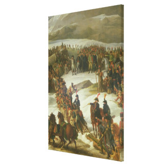 The French Army Crossing the St. Bernard Pass Gallery Wrapped Canvas