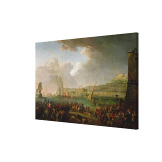 The French Army Entering Naples Canvas Print