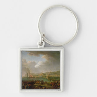 The French Army Entering Naples Keychain