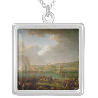 The French Army Entering Naples Silver Plated Necklace