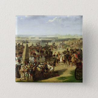 The French Army Pulling Down the Rosbach Column Pinback Button