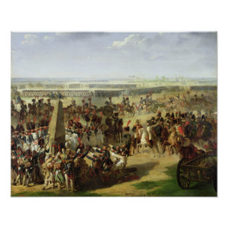 The French Army Pulling Down the Rosbach Column Poster