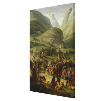 The French Army Travelling St. Bernard Pass Gallery Wrapped Canvas