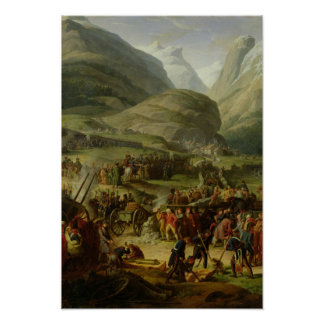 The French Army Travelling St. Bernard Pass Poster