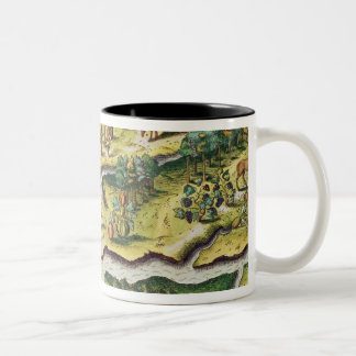 The French Arrive at Port Royal Two-Tone Coffee Mug
