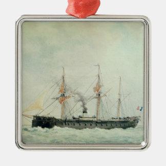 The French Battleship, 'La Gloire', 1880 Metal Ornament
