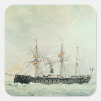The French Battleship, 'La Gloire', 1880 Square Sticker