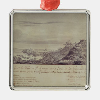 The French Capture Grenada, 1779 Metal Ornament