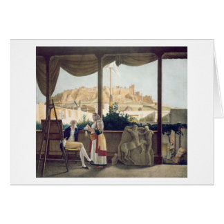 The French Consul Monsieur Fauvel on the terrace Cards