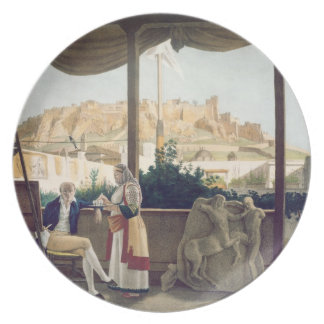 The French Consul, Monsieur Fauvel, on the terrace Dinner Plate