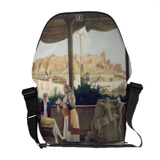 The French Consul, Monsieur Fauvel, on the terrace Courier Bags