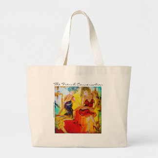 The French Conversation Large Tote Bag