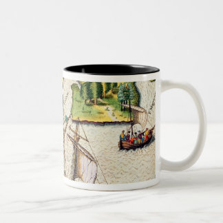 The French Discover Six More Rivers Two-Tone Coffee Mug