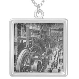 The French Electrical Machinery Gallery Silver Plated Necklace