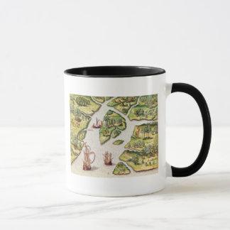 The French Erect a Column Mug