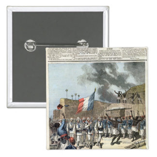 The French Flag Entering Abomey Pinback Button