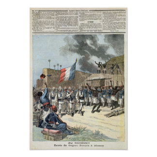 The French Flag Entering Abomey Poster
