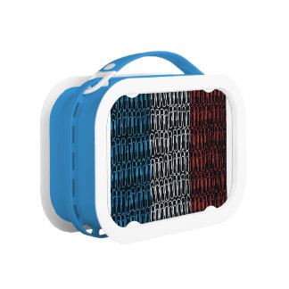 The French Flag of Paperclips Lunchbox