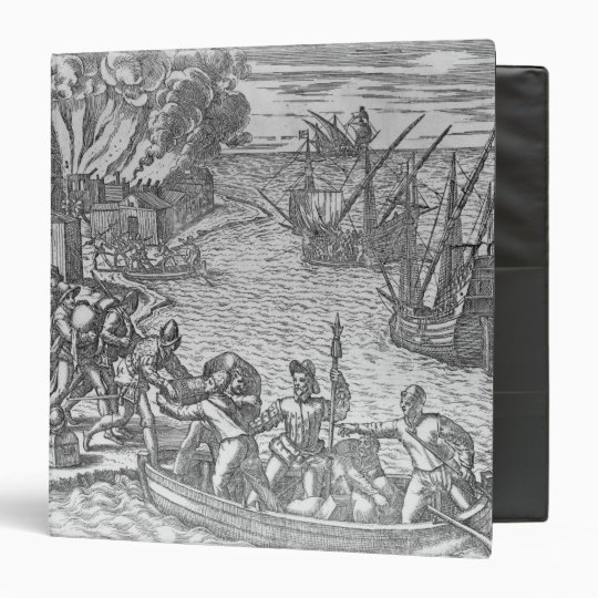 The French Fleet Plundering 3 Ring Binder