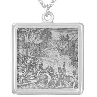 The French Fleet Plundering Pendant